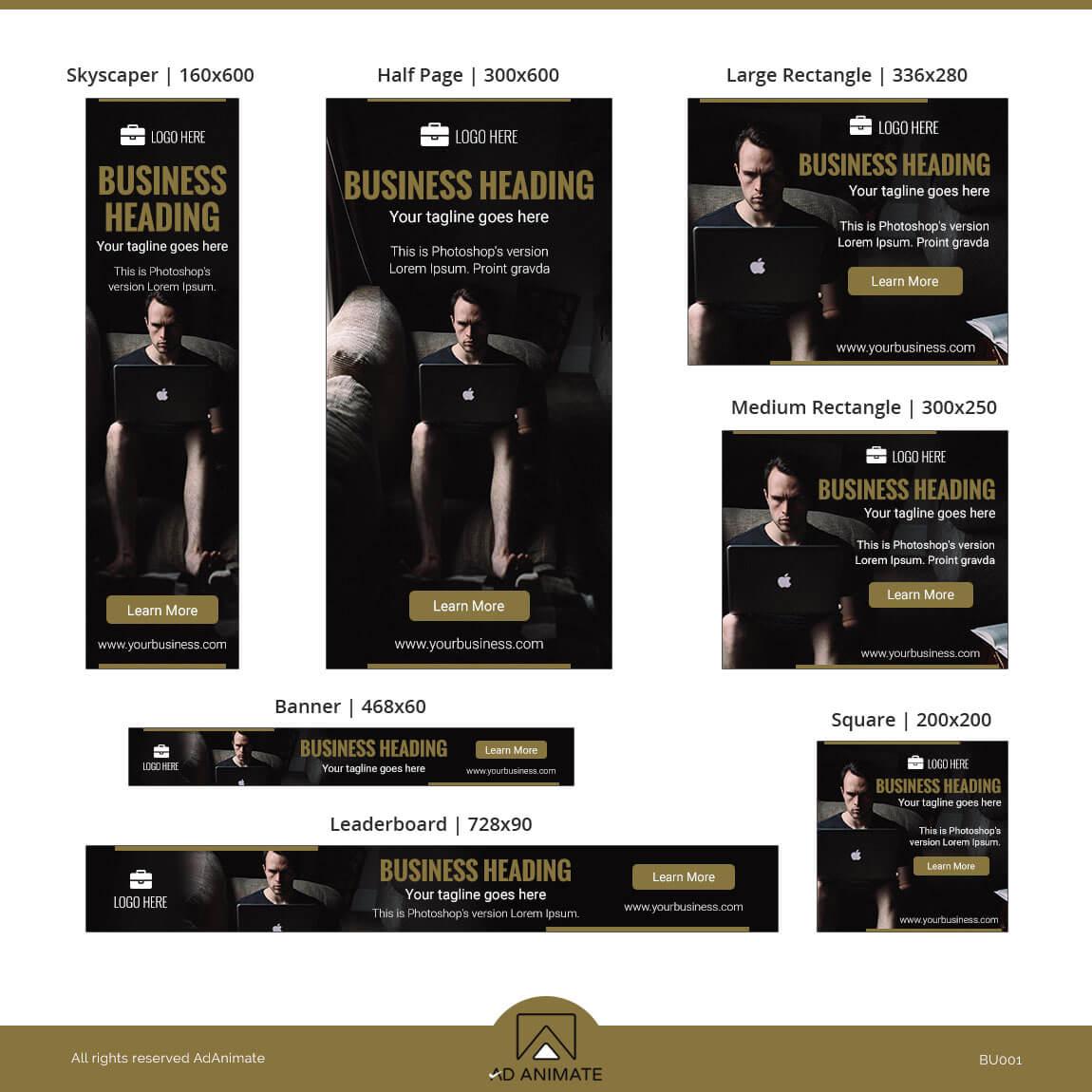 Business Banner html5 ad design