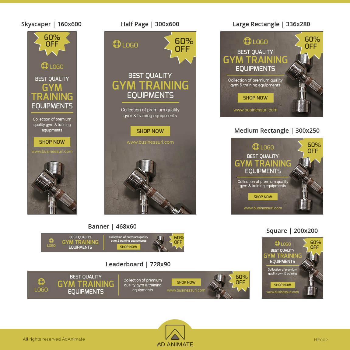 Training Equipment design ad