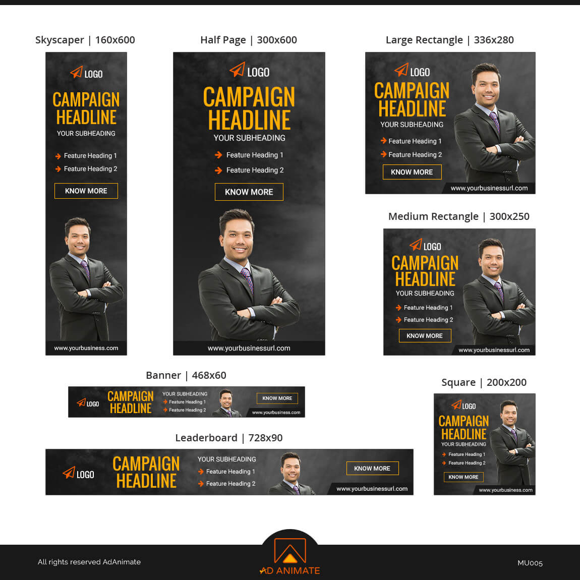 Multipurpose ad banner template