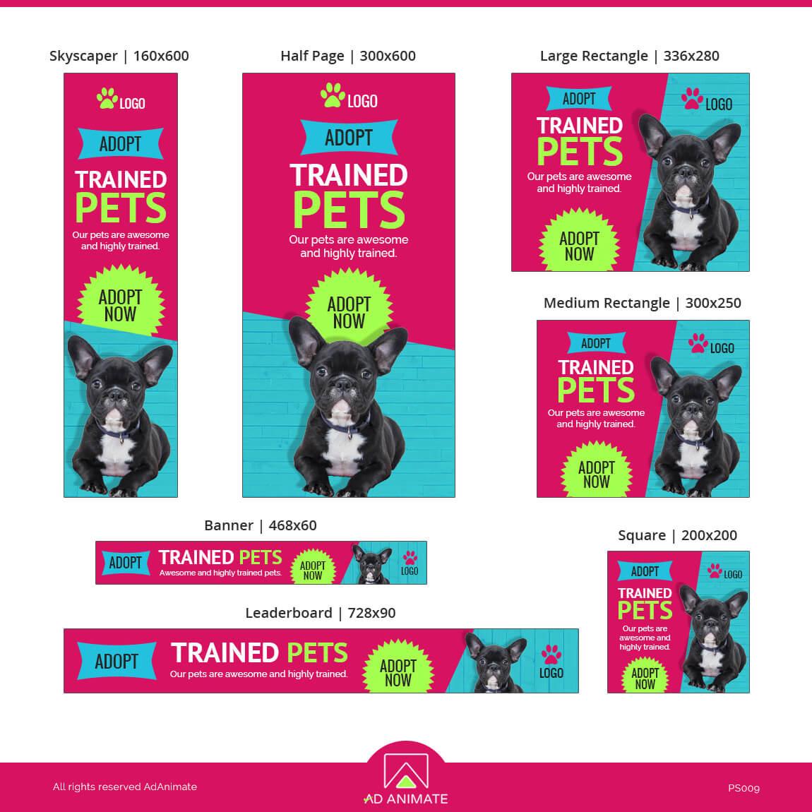 Pet Care Ad Banner Design
