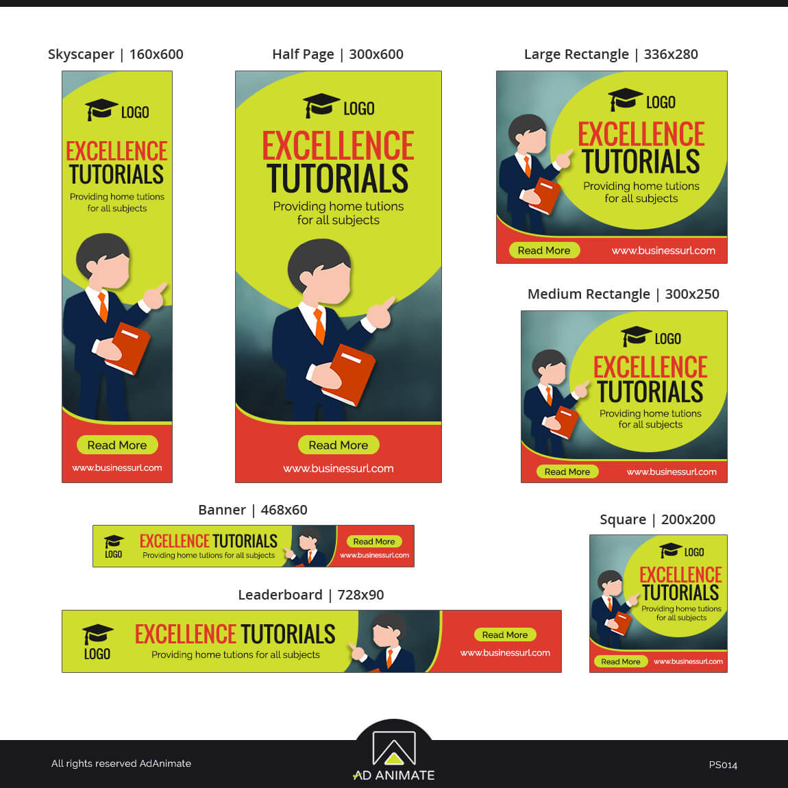 Tutor Banner Template ad design