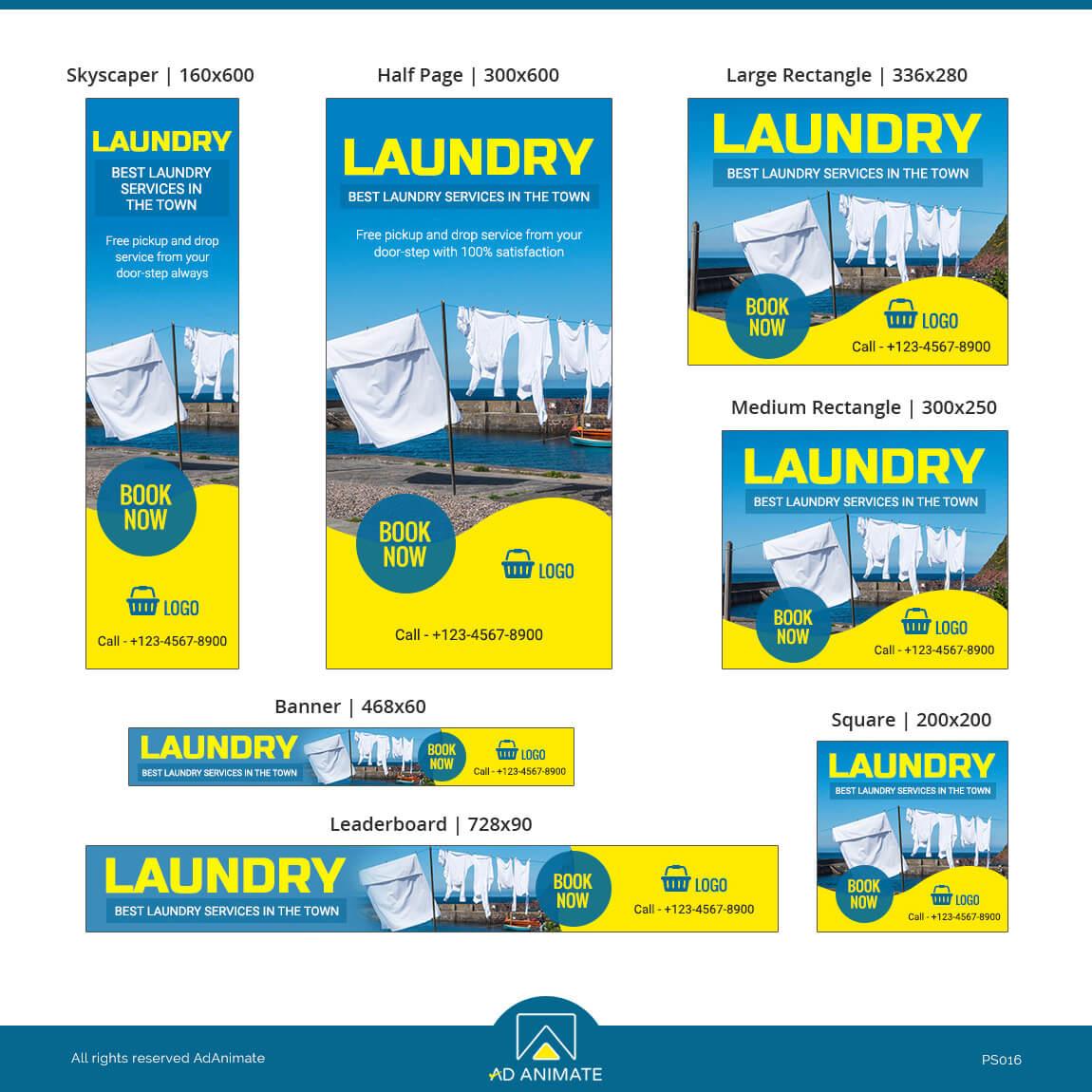 Laundry Service ad template design