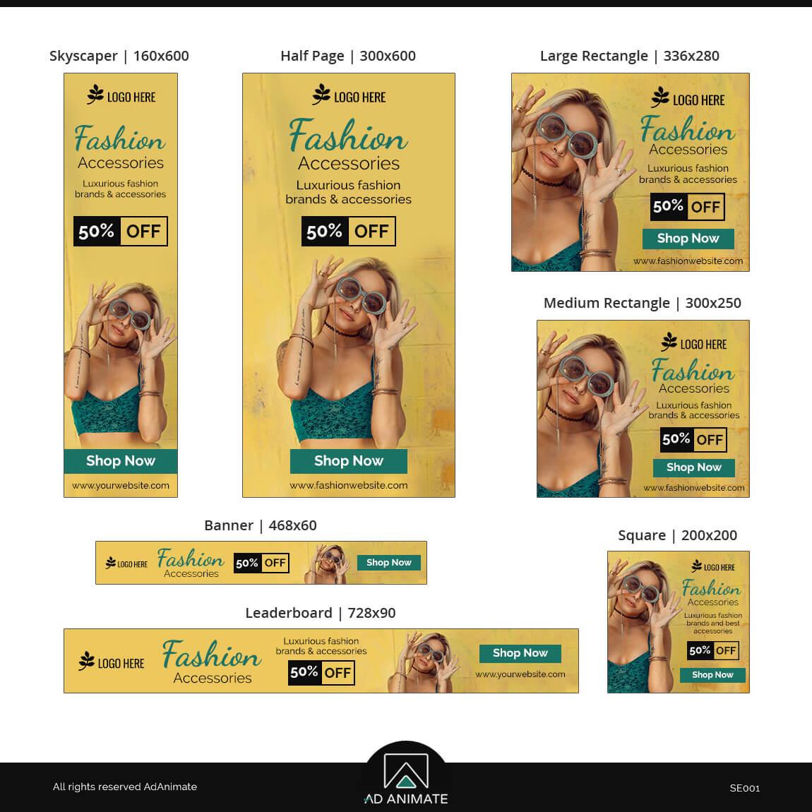 Fashion Accessories Sale Banner Ad