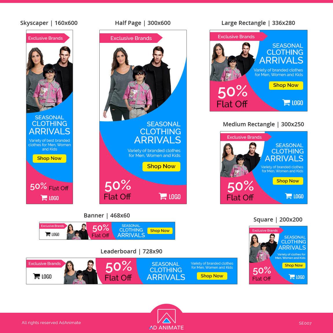 Shopping Banner Ad design