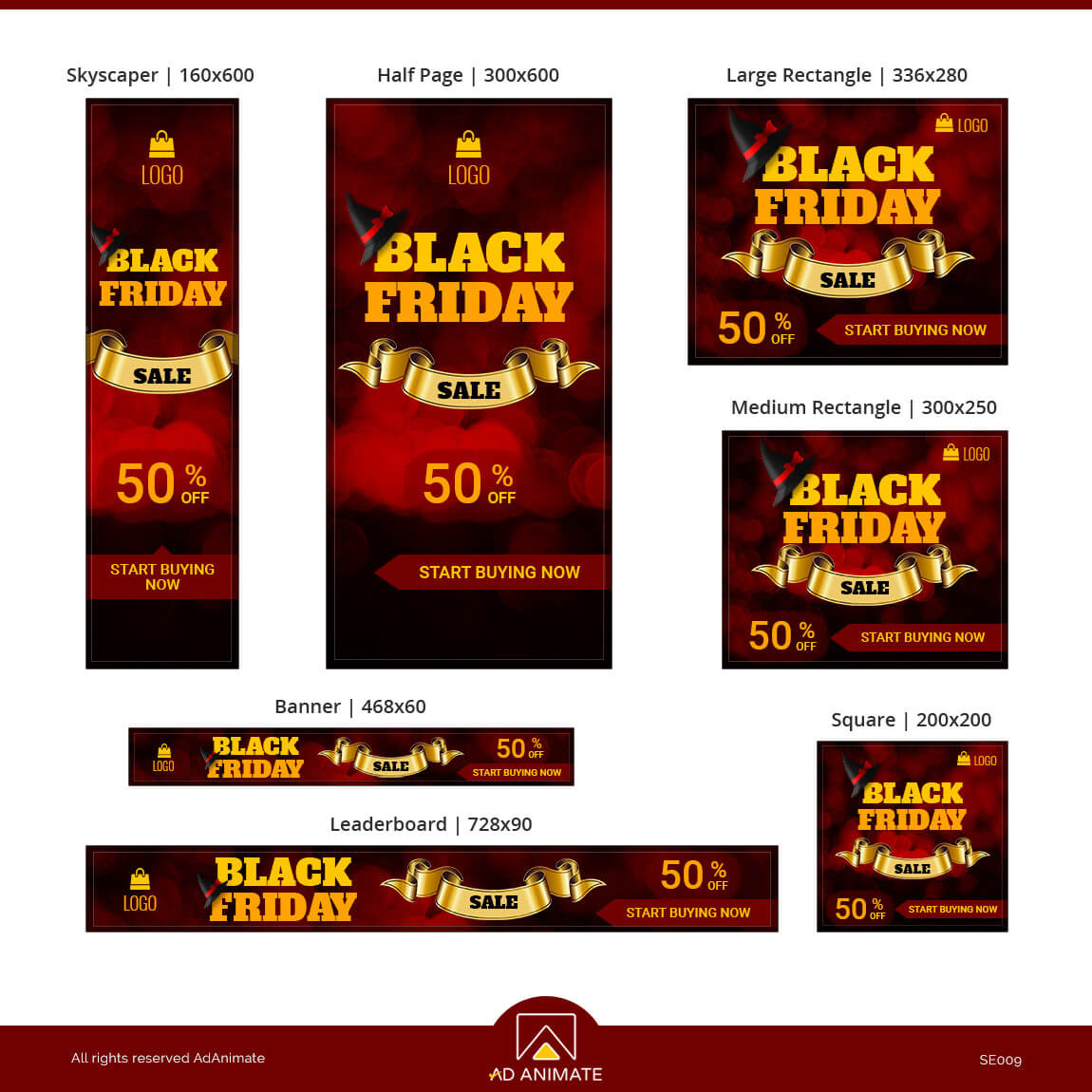 Black Friday Sale ad banner design