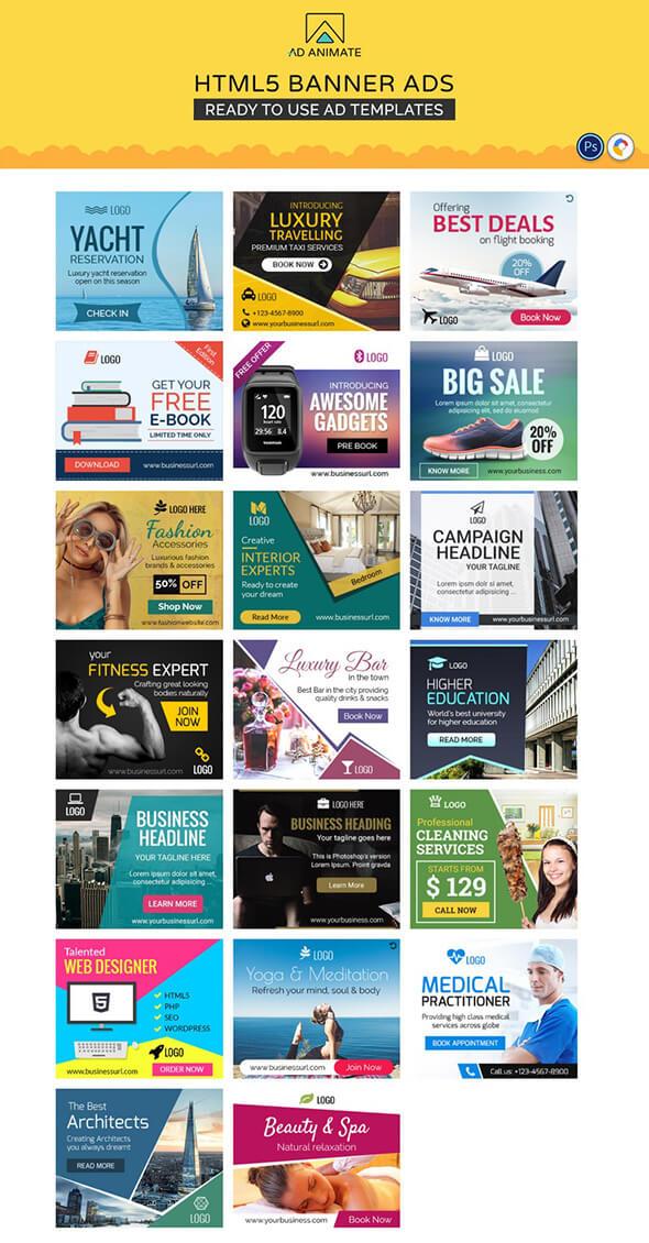 AdAnimate - HTML5 Banner Ad Templates