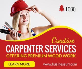 Carpenter Service Ad banner