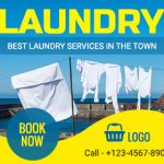 Laundry Service ad template design