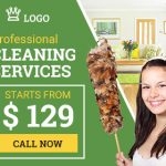 Cleaning Service ad banner template