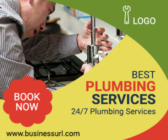 Plumbing Service ad banner design