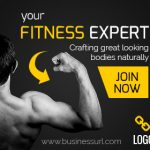 Fitness Expert ad banner template