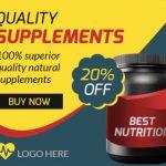 Health Supplement ad banner