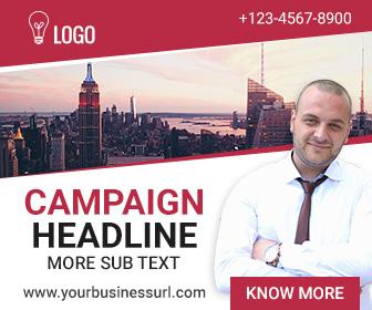 Multipurpose banner ad design
