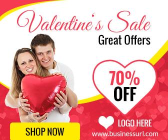 Valentine Sale Banner ad template