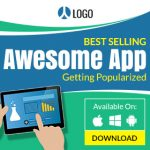 Mobile Application banner ad template