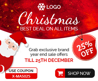 Christmas Sale ad banner design