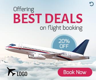 Flight Booking html5 animated ad