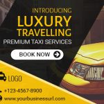 Taxi Service booking ad banner