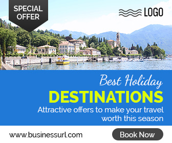 Holiday Travel ad banner template