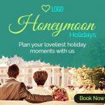 honeymoon booking ad banner