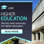 Higher Education banner template