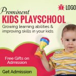 kids playschool banner ad