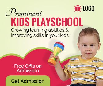 kids playschool banner ad