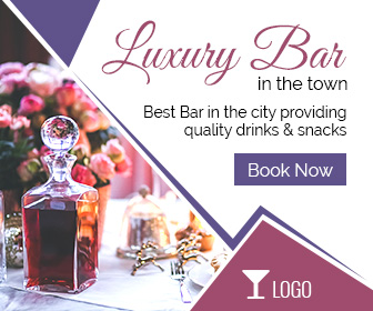 Luxury Bar booking ad banner