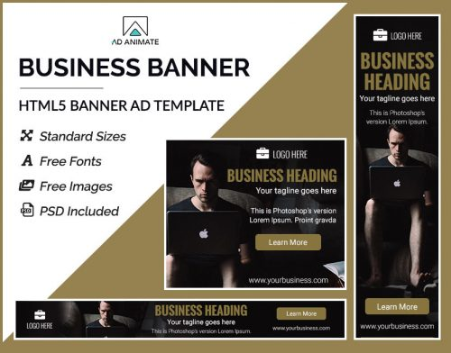 online business banner ad templates
