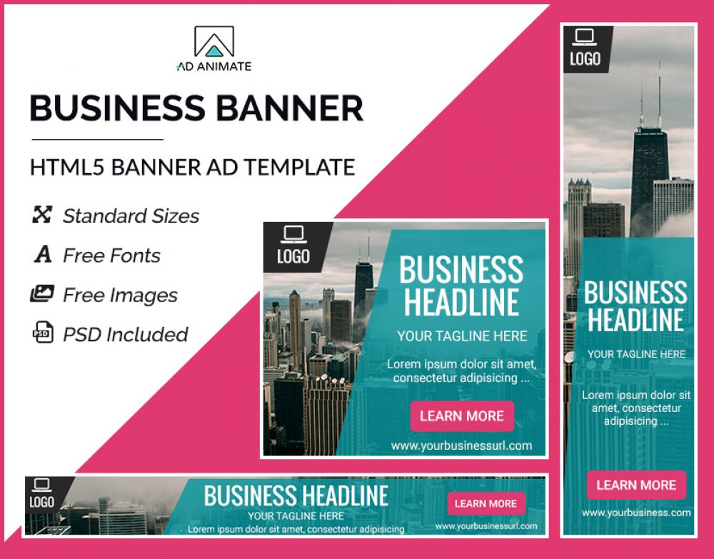business banner online ad templates
