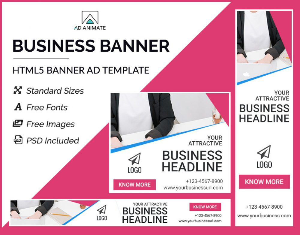 business ad banner template