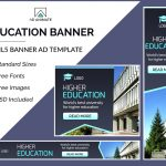 education banner ad template