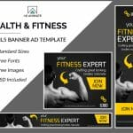 fitness expert banner ad templates