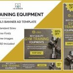gym training banner ad templates