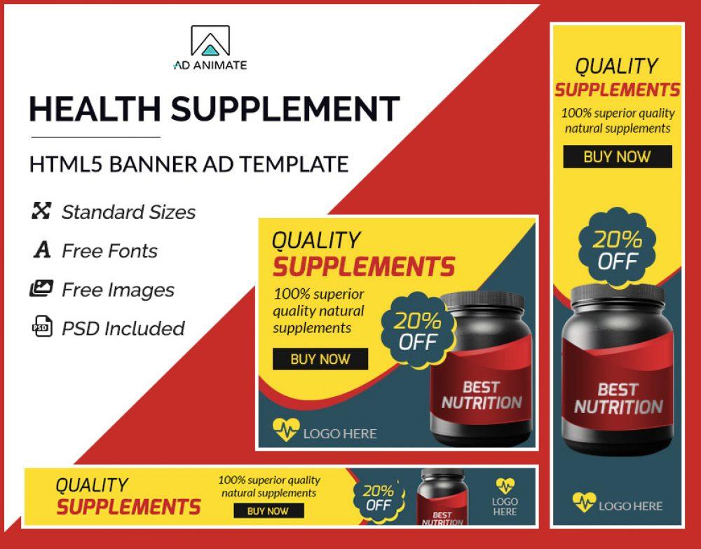 health supplement banner ads