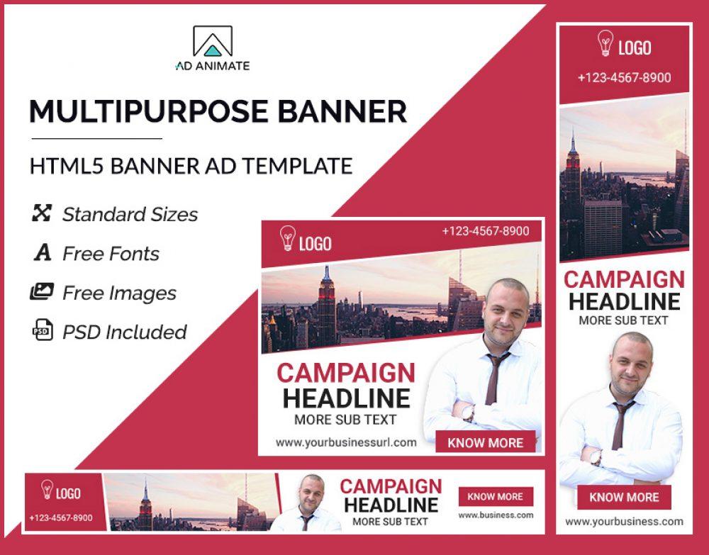 Multipurpose banner template