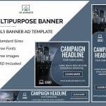 Multipurpose ad banner