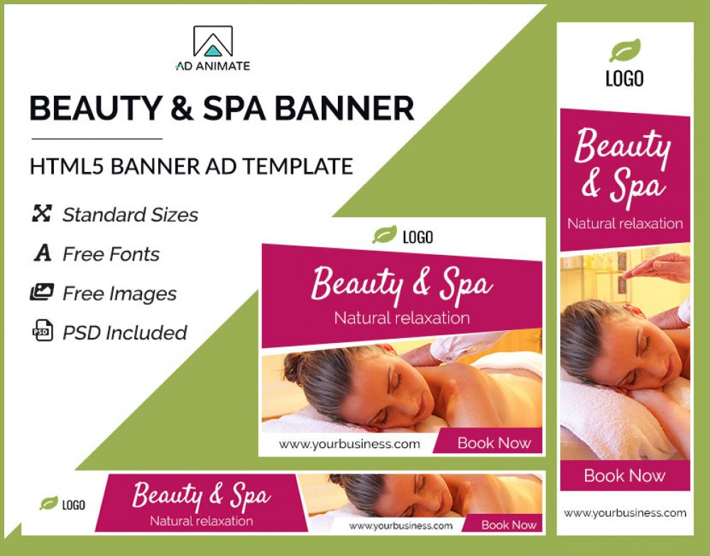 Beauty/spa banner ad template