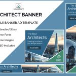 Construction business banner template