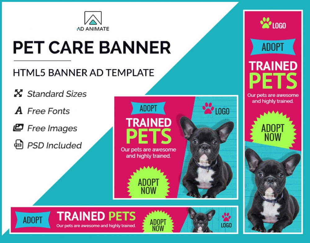 Pet Care Ad Banner
