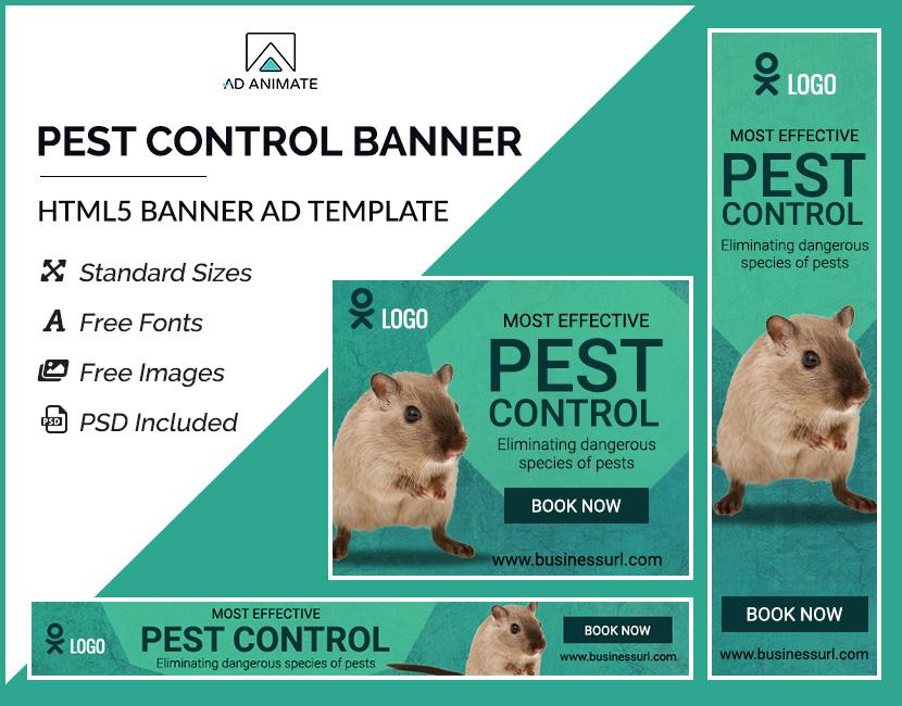 Pest Control Banner (PS010) | AdAnimate