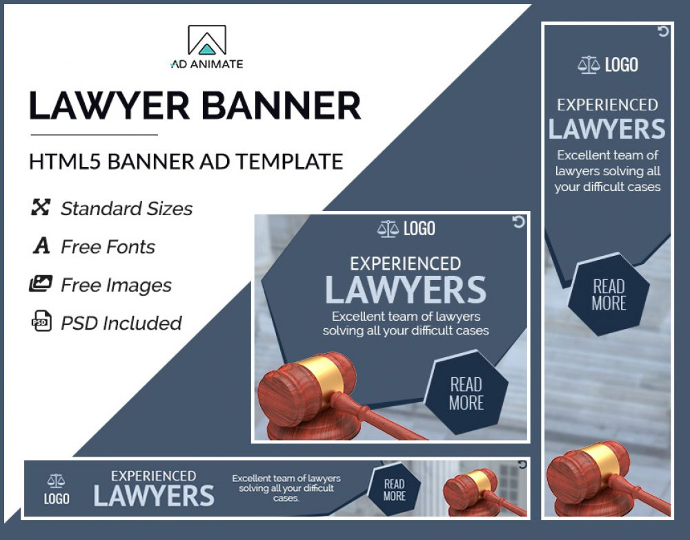 Lawyer Banner Ad Template