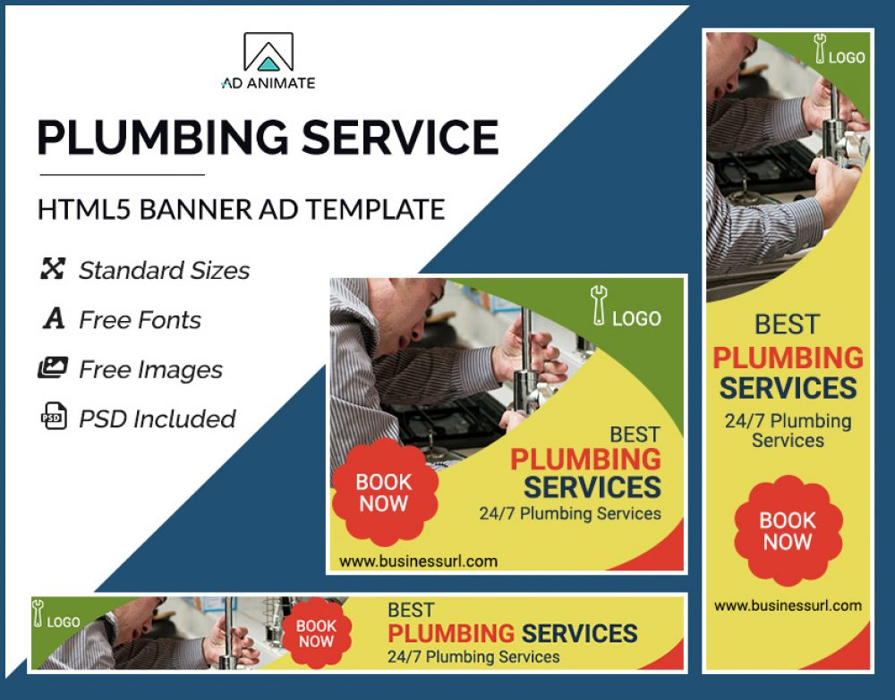 Plumbing Service Banner template