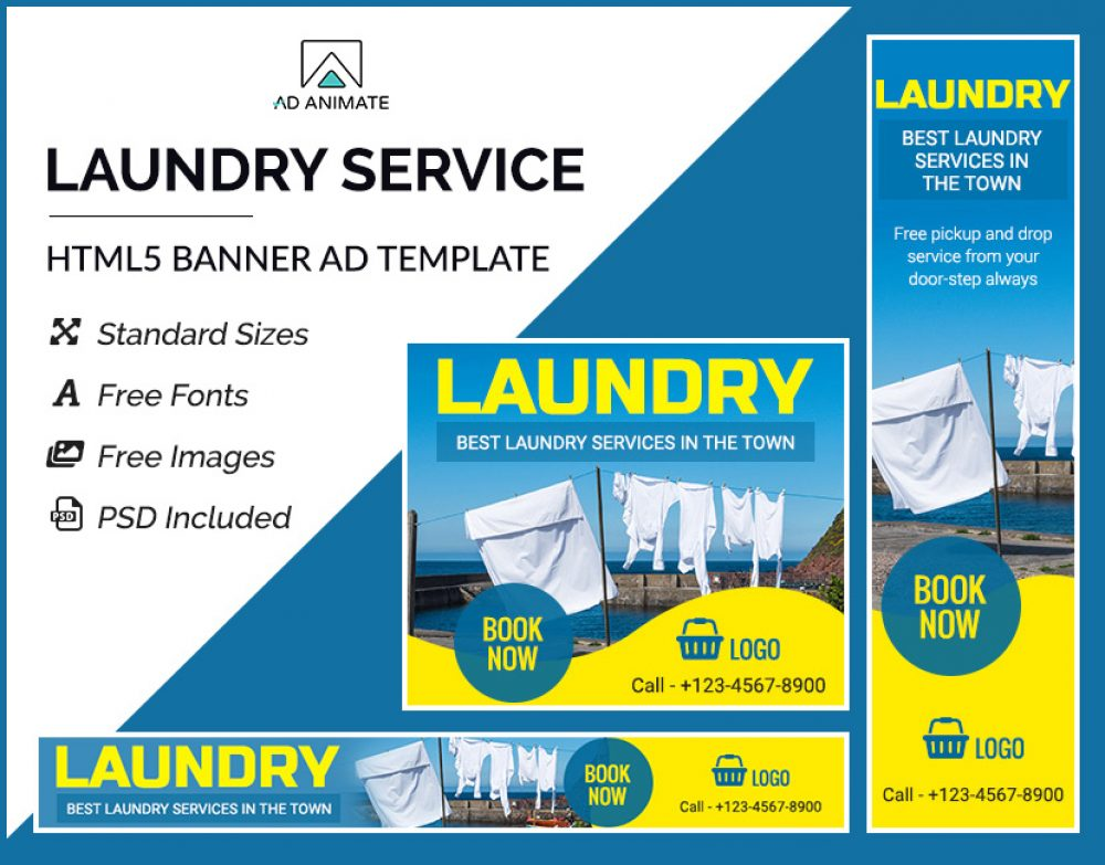 Laundry Service Ad banner
