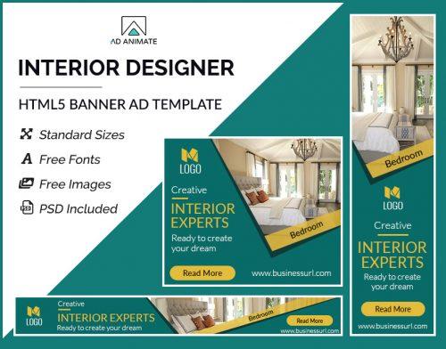 Interior Designer Banner Ad Template