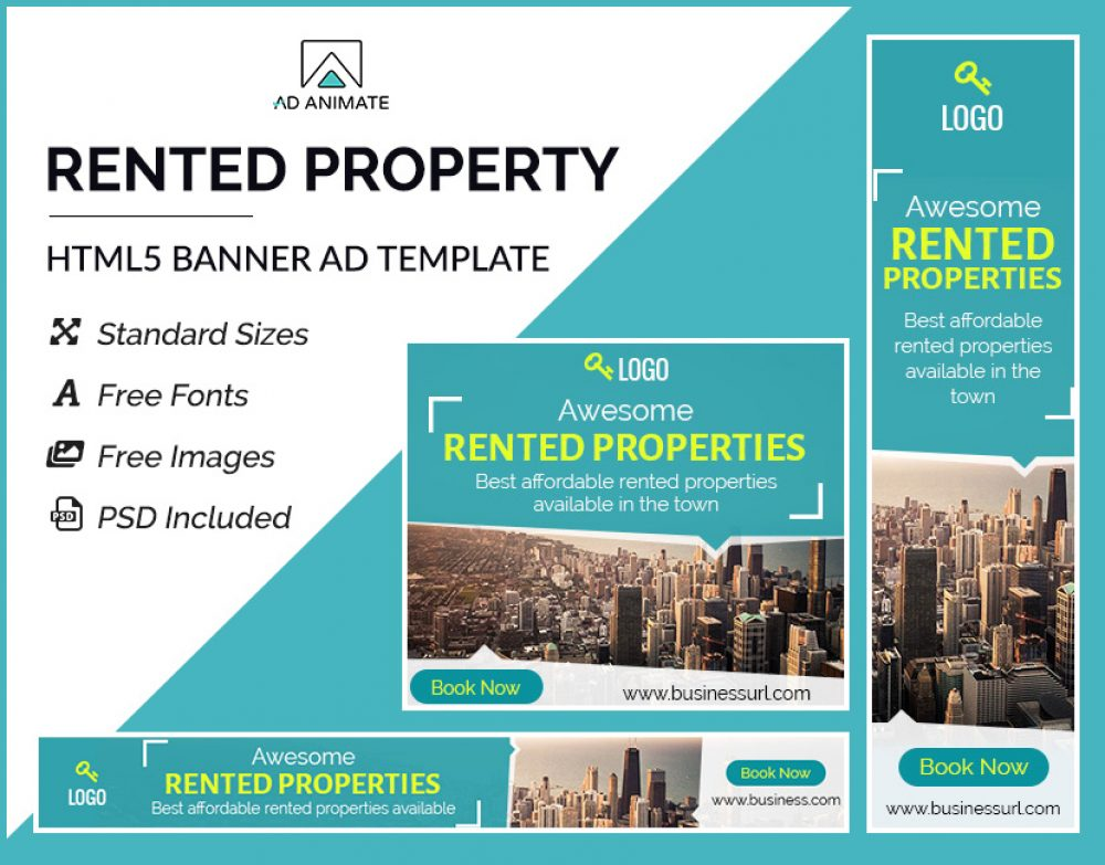 Rented Property Banner Template