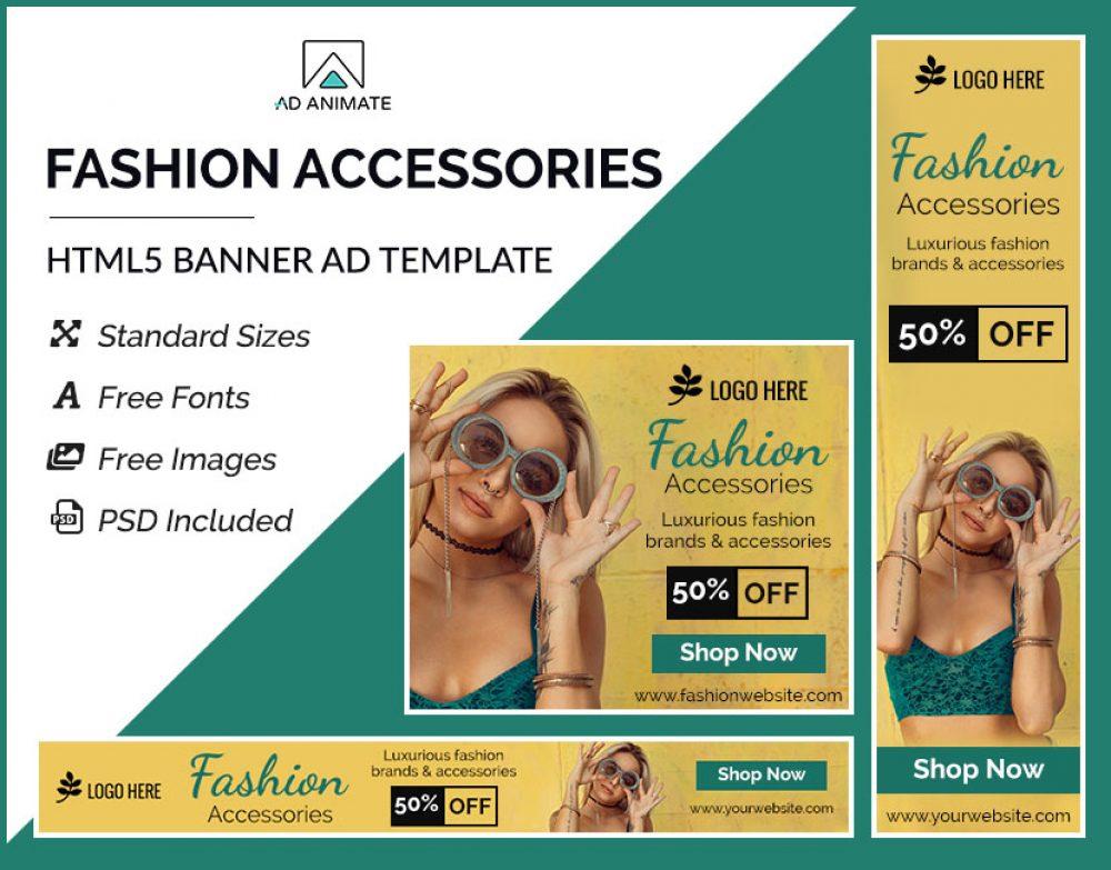 Fashion Accessories Banner Design