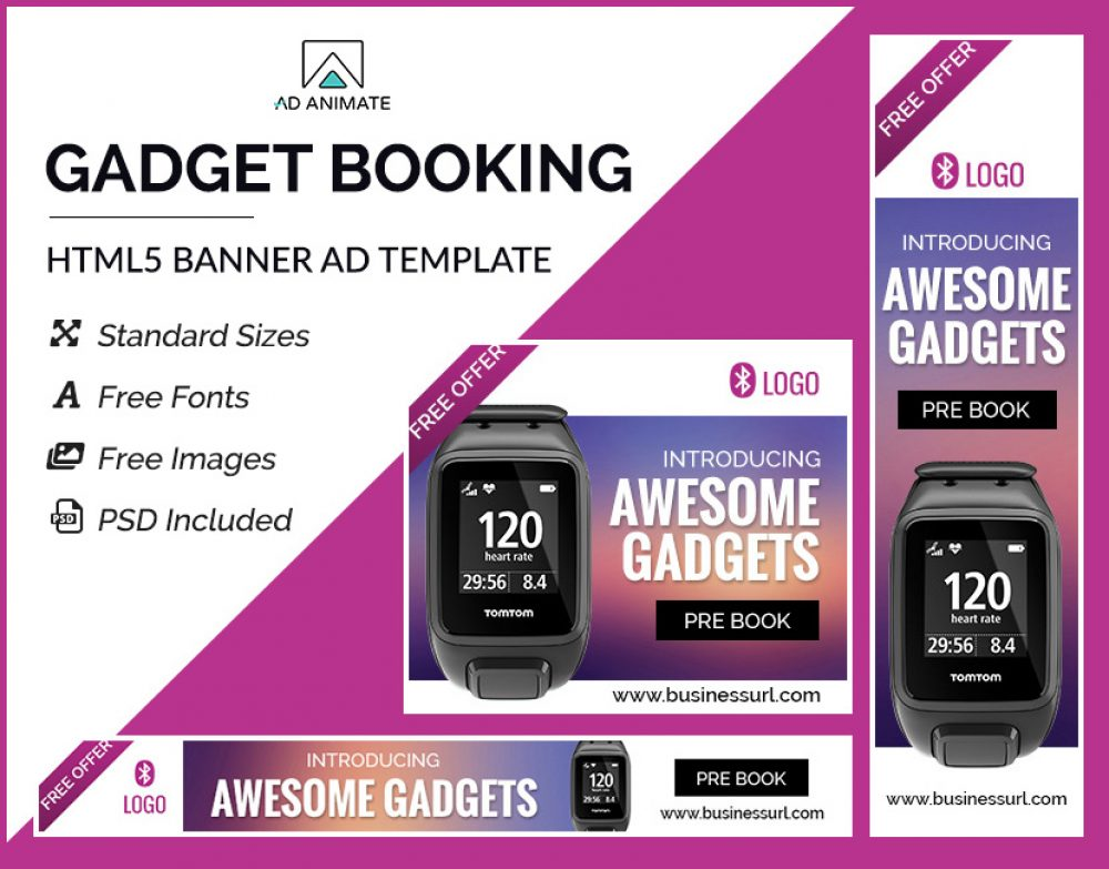 Gadget Booking Banner Template