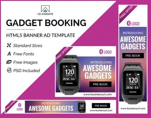 Gadget Booking Banner Template