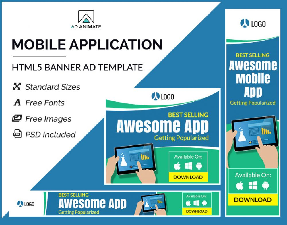 Mobile Application Banner Template